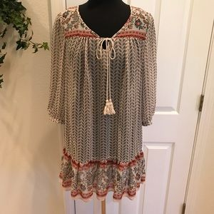 Forever 21 Ruffled Bottom Tunic, Sz L